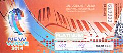 """Билет на творческий вечер Пугачевой. """"Новая Волна"""" 2014"""