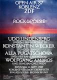 Афиша рок-концерта в Кобленце (ФРГ, Германия)